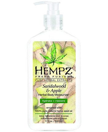 Увлажняющий крем для тела Fresh Fusions Sandalwood & Apple на травах, 17 унций, от PUREBEAUTY Salon & Spa Hempz