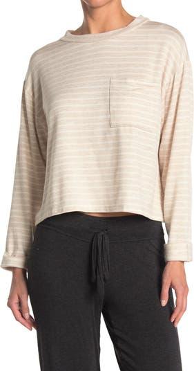 Полосатая рубашка с длинным рукавом и карманами ALL IN FAVOR