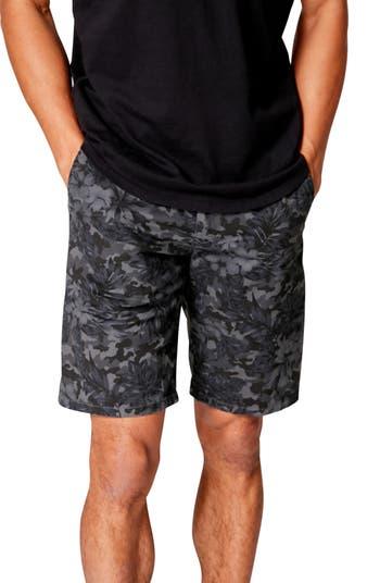 Облегающие шорты с камуфляжным принтом и цветочным принтом Monaco на плоской подошве Good Man Brand