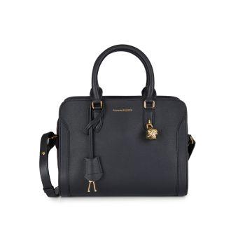 Маленькая сумка-портфель из шагреневой кожи Alexander McQueen