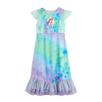 Girls Disney's The Little Mermaid Ariel Fantasy Princess Nightgown Licensed Character