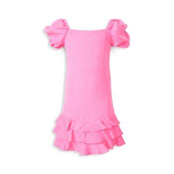 Little Girl's & Girl's Linen Simona Dress Bardot Junior