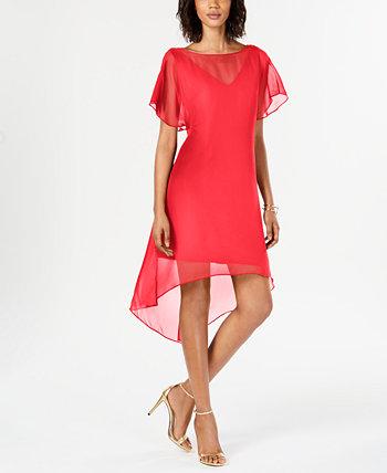 Платье A-Line с шифоновой накладкой Adrianna Papell