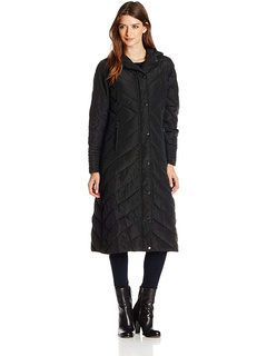Женская длинная куртка-пуховик Madden Girl с шевронным узором Madden Girl