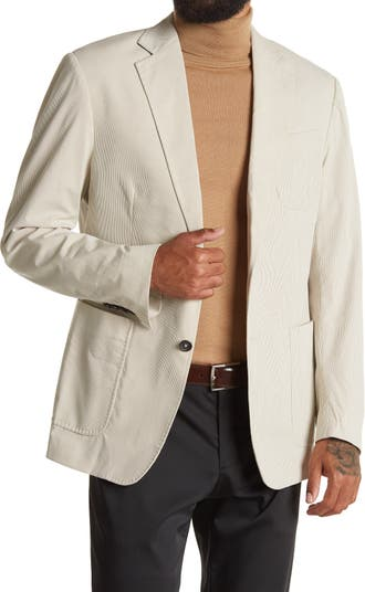 Tan/White Pinstripe Two Button Notch Lapel Sport Coat Billy Reid