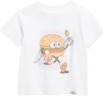 Футболка Fast Food Burger с графическим рисунком Kid Dangerous