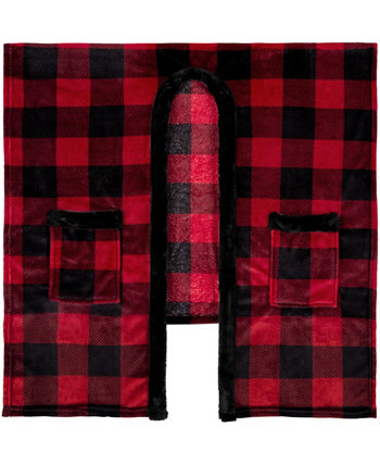 Inc Knit Tranquility Plaid Throw Safdie & Co