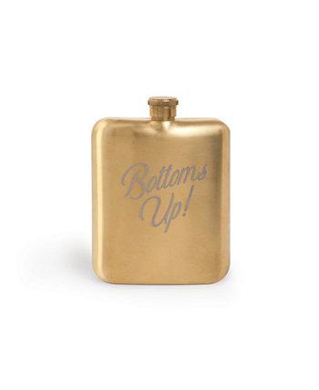 """Barware Hip Flask """"Bottoms Up"""" Designworks Ink"""