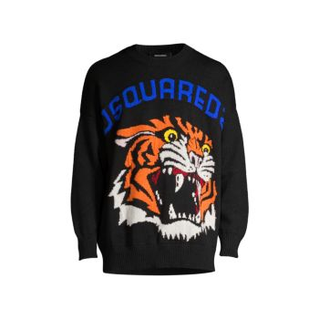 D2 Tiger Wool Sweater DSQUARED2