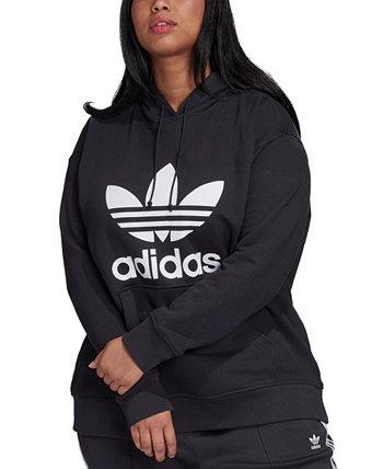 Толстовка с капюшоном и оригиналами большого размера Adidas
