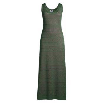 Вязаное платье макси без рукавов M Missoni