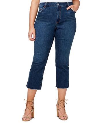 Plus Trendy Cropped Raw-Hem Jeans Jessica Simpson