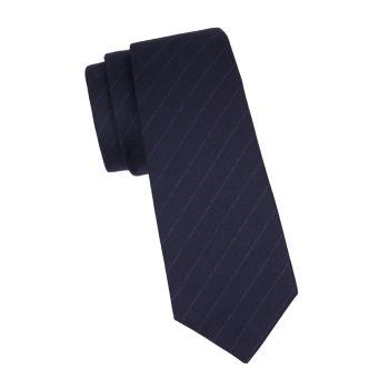 Шелковый галстук в тонкую полоску Kiton