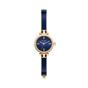 Slim Goldtone Stainless Steel & Enamel Bracelet Watch Tory Burch