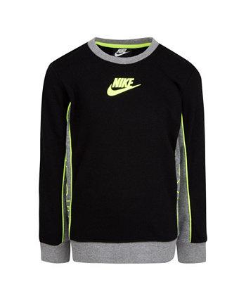 Флисовая толстовка с круглым вырезом Little Boys с цветными блоками Nike