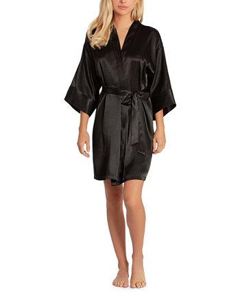 Женский короткий атласный халат Linea Donatella