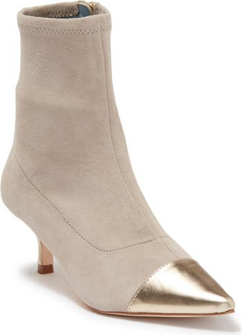 Pointed Toe Leather Stiletto Bootie Frances Valentine