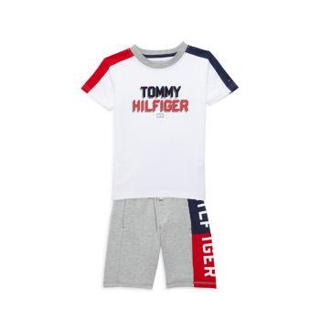 Little Boy's 2-Piece Logo T-Shirt & Shorts Set Tommy Hilfiger