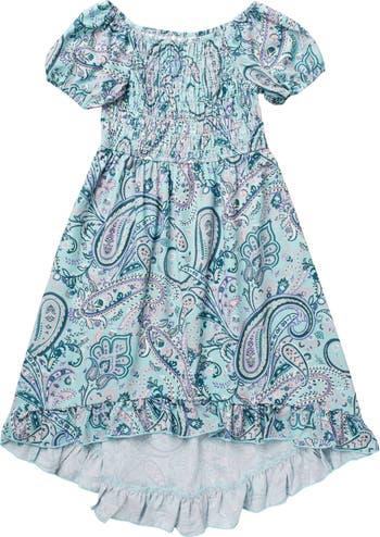 Платье со сборками и оборками на рукавах пейсли AVA AND YELLY