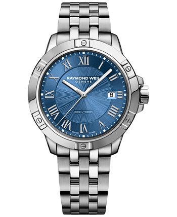 Мужские швейцарские часы-браслет из нержавеющей стали Tango 41мм 8160-ST-00508 Raymond Weil