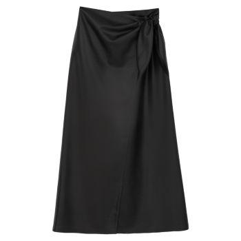 Кожаная юбка-миди Amas Nanushka