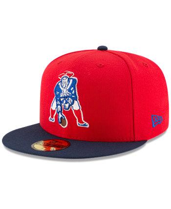 New England Patriots Team Basic 59FIFTY Установленная кепка New Era