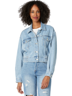 Denim Jacket with Dropped Shoulder Blank NYC