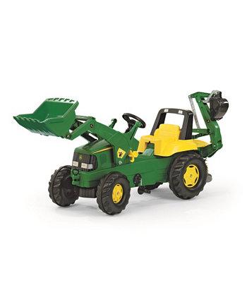 Toys John Deere Kid Экскаватор-погрузчик с фронтальным погрузчиком Rolly