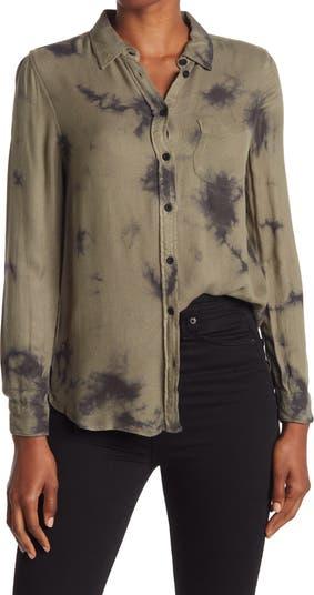 Рубашка на пуговицах Bennett Tie Dye Velvet Heart