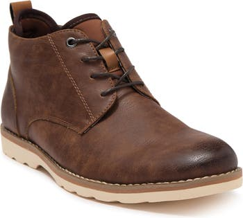 Кожаные ботинки чукка с гладким носком Madden