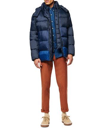 Мужская куртка-пуховик Dovers с цветными блоками, нагрудником-вставкой и съемным капюшоном Marc New York by Andrew Marc