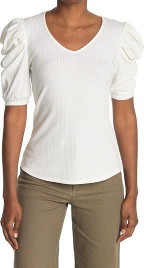 Блузка с V-образным вырезом и рюшами на рукавах Forgotten Grace