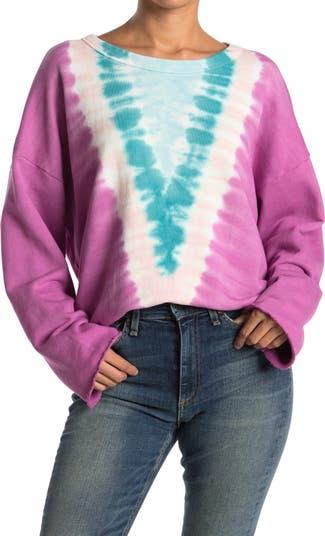 Пуловер прямого кроя с принтом тай-дай Reine NSF CLOTHING
