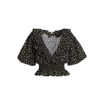 Блуза Mayville с объемными рукавами и цветочным принтом WAYF