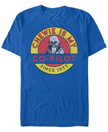 Мужская классическая футболка с коротким рукавом Chewie Is My Co-Pilot Star Wars