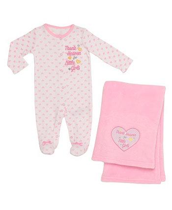 Набор из 2 штук и одеял с благодарностями Heaven - для девочек Baby Starters