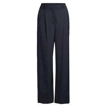 Saglia Twill & amp; Трикотажные широкие брюки со складками Weekend Max Mara