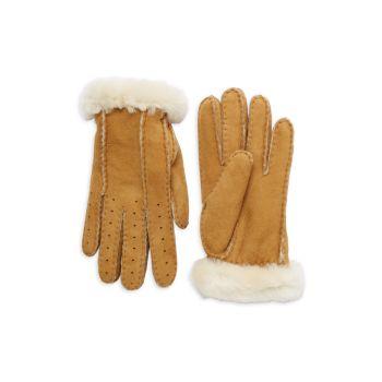 Перфорированные короткие перчатки UGG