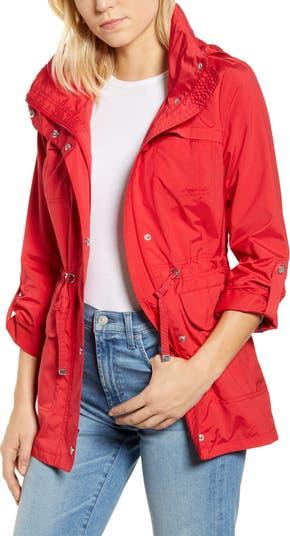 Дорожная упаковываемая куртка от дождя на молнии спереди COLE HAAN SIGNATURE