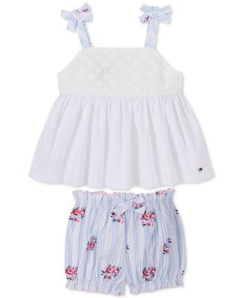 Baby Girls 2-Pc. Хлопковый топ и шорты-шорты Tommy Hilfiger