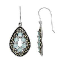 Tori HillSterling Silver Cubic Zirconia & Marcasite Teardrop Earrings Tori Hill