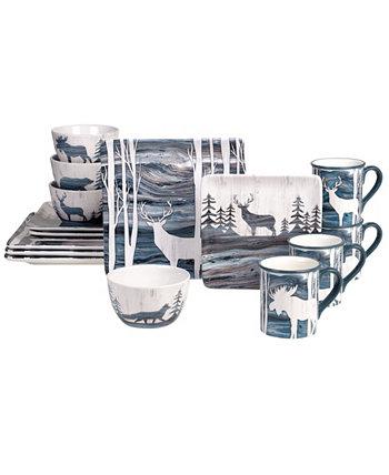 Набор столовой посуды Fluidity Lodge из 16 предметов Certified International