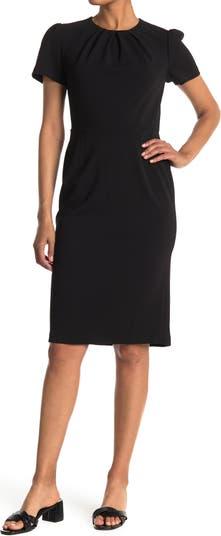 Платье-футляр с короткими рукавами и складками на шее Maggy London