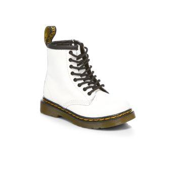 Маленькая девочка & amp; Армейские ботинки для девочек 1460 Dr. Martens