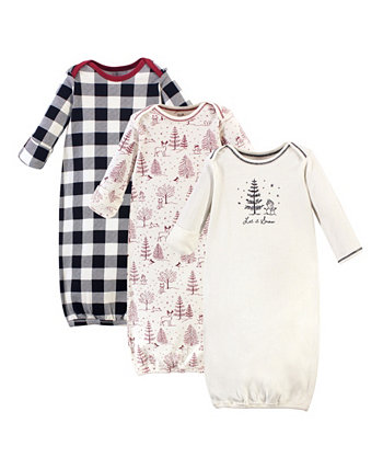 Baby Boy и Girl Gowns, набор из 3 Touched by Nature