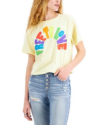 Хлопковая футболка с графическим принтом Free To Love для юниоров Mad Engine