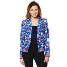 Women's Suitmeister Christmas Blue Nordic Blazer Suitmeister