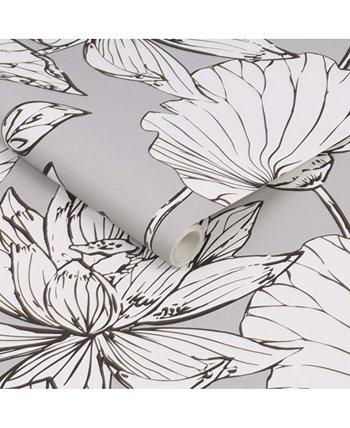 """Иллюстративные цветочные обои из кожуры и карандашей, 216 """"x 20,5"""" Transform"""