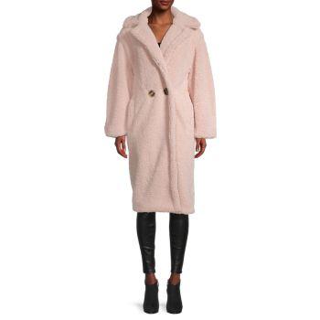Двубортное пальто Daryna из искусственного меха APPARIS