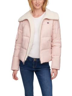 Стеганая куртка-пуховик с отложным воротником на подкладке из шерпы Levi's®